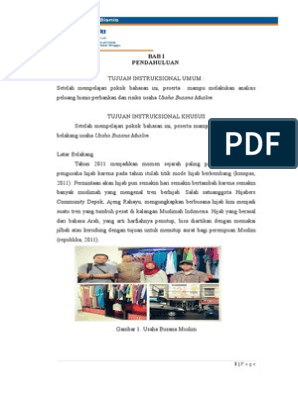 Proposal Toko Busana Muslim