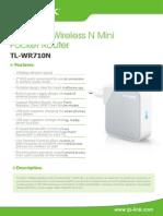 TL-WR710N V1 Datasheet