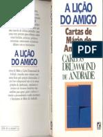 ANDRADE, MáRio -Cartas de MáRio de Andrade a Carlos Drummond de Andrade