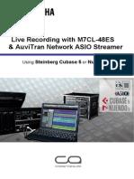 Live Recording Guide m7cl48es Asio Streamer En