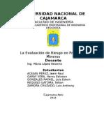 La Evaluación de Riesgo en Proyectos Mineros9