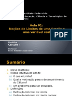 Cálculo I - Limite - Aula 01.pptx