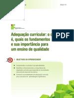 AULA - 11 - Adequação Curricular o Que é, Quais Os Fundamentos e Sua Importância Para Um Ensino de Qualidade.