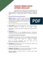 Diccionario semiologia Vascular