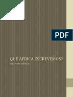 Que África Escrevemos?