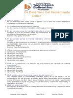 Cuestionarios de Desarrollo Del Pensamiento Crítico