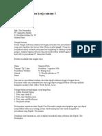 Surat Lamaran Umum CV
