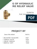 Testing of Pressure Relief Valve