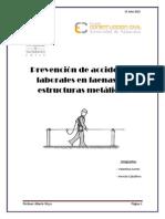 prevencion de riesgos en estructuras metalicas