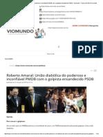Roberto Amaral_ União diabólica do poderoso e inconfiável PMDB com o golpista ensandecido PSDB - Viomundo - O que você não vê na mídia.pdf