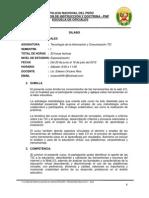 SILABUS Uso de La Tecnología de La Información y Comunicación TIC