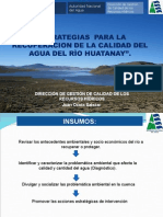 RECUPERACION DE LA CALIDAD DEL AGUA DEL RÌO HUATANAY