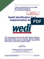 WEDI Health ID Card Approved