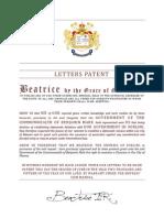 letters patent benjamin mark