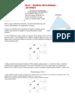 Enuciados y Soluciones 2015 Preliminar