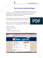 Insertar Video en Blogger