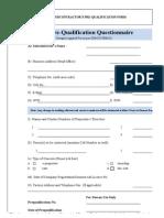 SUBCO-FRM-01 Subcontractor's Prequalification Form