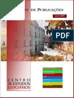 CATÁLOGO DE PUBLICAÇÕES CEJ 2015