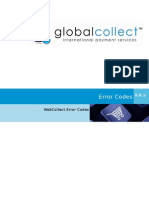 GC WebCollect Error Codes Overview 6.8.2