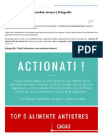 Top 5 Alimente Care Combat Stresul Infografic SuperAlimenteinfo