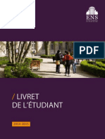 LivretEtudiant2014 ENS
