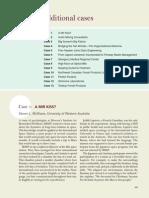 Additional Cases - Organizational Behavior (5th Edition)