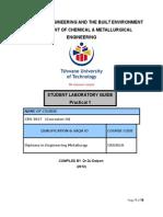 CRS301A Prac I Manual July 2013