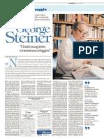 """Intervista a George Steiner (da """"Repubblica"""" 2015-08-03)"""