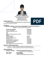 resume - sabillo nilo (as of july 10 2015)