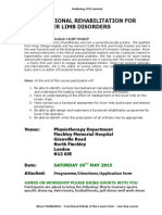 Programme - Functional Rehab of the Lower Limb - Finchley Mh - 16 May 15-1-6