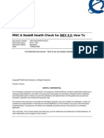 RNC and NodeB Health Check