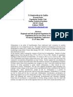 Urbanization in India