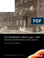 The Spitalfields suburb 1539–c 1880