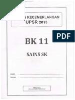 Sains Percubaan UPSR Terengganu 2015