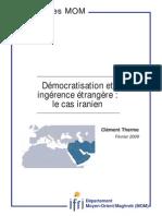 Démocratisation Et Ingerence Etrangere_Le Cas d'Iran