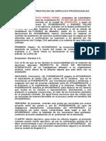 Modelo Contrato Prestacion de Servicios Recargos Dominicales Bavaria
