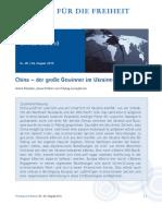 China –  der große Gewinner im Ukraine-Konflikt?