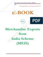 Merchandise Exports From India Scheme (MEIS)