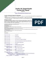 Leiaute de Importação AC Fiscal Fortes