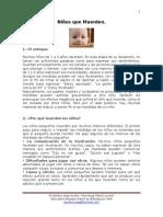 Chupete y Objetos de Apego - Documento Para Papás.