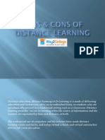 Pros & Cons of Distance Learning