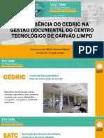 A Experiência do CEDRIC na Gestão Documental do CTCL