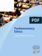 Parliamentary Ethics - A Question of trust (Codes of Conduct)