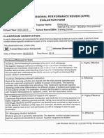 2015 formal evaluation