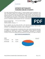 ENGpower - Rapporto Questionario Online Studenti Idoneità