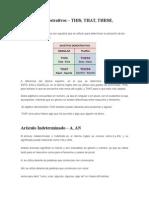 Lección 1. Adjetivos Demostrativos (This-that) Articulo Indeterminado (an-A) Articulo Determinado (the)