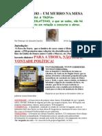 Crónica Nº 183 - Um murro na mesa - O Metro para a Trofa