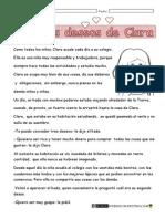 Lectura Los Tres Deseos de Clara