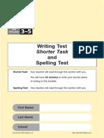 Ks2 English 2003 Writing Test Shorter Task Spelling Test