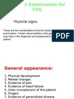 General Examination for CVS